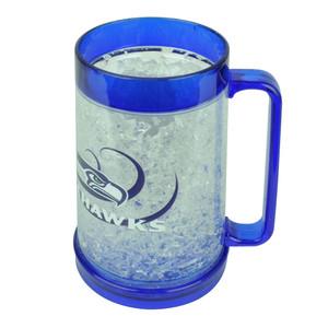 NFL Seattle Seahawks Color Freezer Mug Crushed Ice 16oz Drinks Beer Cup Blue