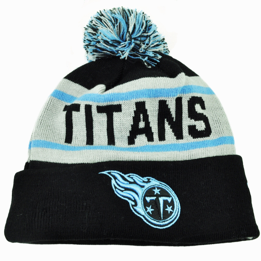 f4c0603aab8 NFL New Era Tennessee Titans Biggest Fan Knit Beanie Pom Pom Cuffed ...