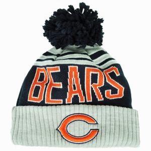 NFL New Era Chicago Bears Winter Blaze Pom Knit Beanie Cuffed Hat Toque Blue