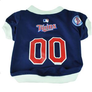 MLB Minnesota Twins Pet Gear Small Shirt Dog Puppy Apparel Blue Hunter Fan Small