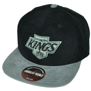 NHL American Needle Los Angeles Kings LA Corduroy Hat Cap Clip Buckle Flat Bill