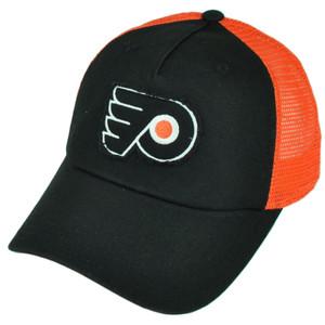 NHL American Needle Philadelphia Flyers Mesh Snapback Hat Cap Black Orange Sport