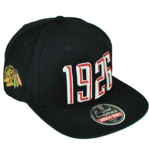 NHL American Needle Chicago Blackhawks Originals Flat Bill 1926 Snapback Hat Cap