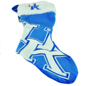 NCAA Kentucky Wildcats Christmas Stocking Velvet Holidays Hanging Sock Faux Fur