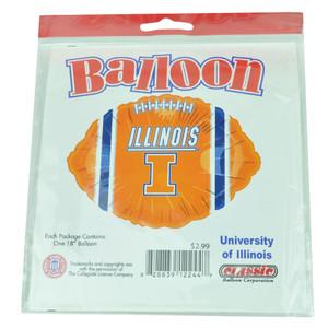 NCAA Illinois Fighting Illini Football Balloon Helium 18in Party Celebration