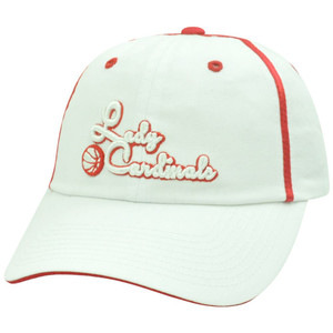 12bcf3ea3e205 NCAA Louisville Ladies Cardinals Basketball Sun Buckle Garment Wash Hat Cap