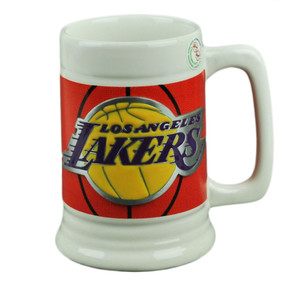 NBA Los Angeles Lakers LA Ceramic Coffee Mug Cup Gameball Fan Basketball Drink