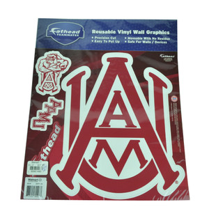 NCAA Alabama A&M Reusable Vinyl Wall Graphics Fathead Movable Devices Phone Red