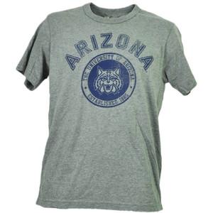 NCAA Arizona Wildcats Tshirt Tee Gray Short Sleeve Mens Adult Crew Neck Sports