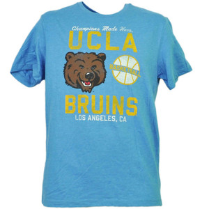 NCAA UCLA Bruins Basketball Los Angeles CA Tshirt Tee Mens Champions Made Here