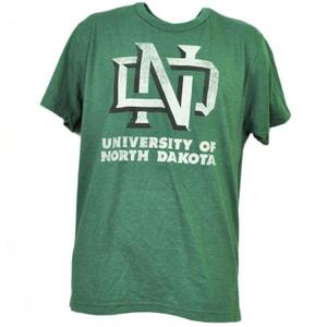 NCAA North Dakota State Bison Distressed Logo Green Mens Short Sleeve Adult