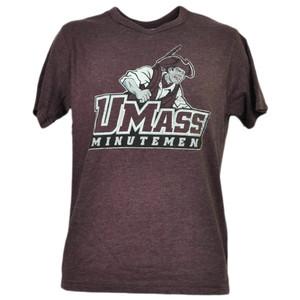 NCAA Massachusetts Minutemen UMASS Tshirt Tee Burgundy Short Sleeve Sports Mens