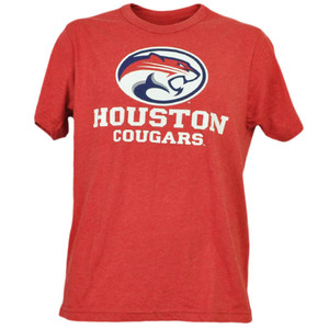 NCAA Houston Cougars Red Short Sleeve Mens Adult Tshirt Tee Crew Neck Sports