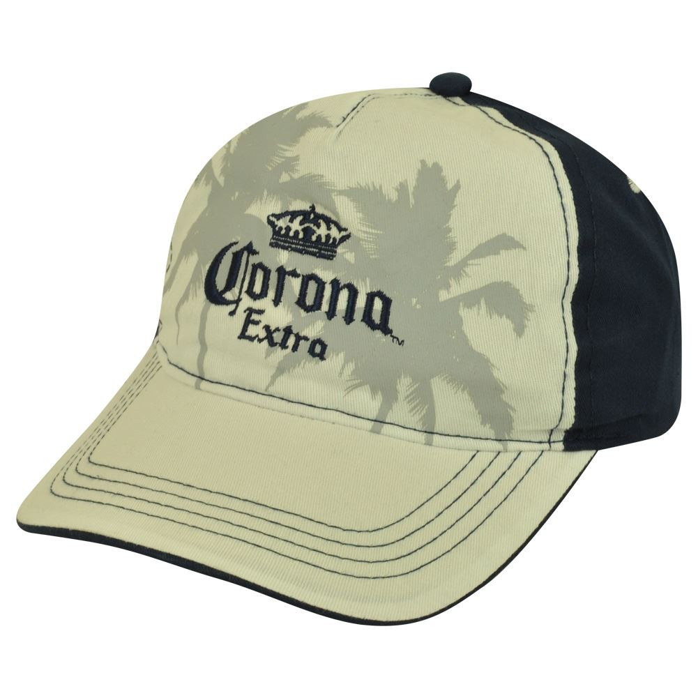 ded44f889f9 Corona Extra Mexico Beer Palm Tree Garment Wash Adjustable Hat Cap ...