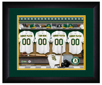 e8848c863 MLB Personalized Locker Room Print Black Frame Customized Oakland Athletics