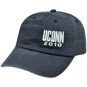 NCAA UCONN 2010 WEEKENDER HAT CAP BLUE CONN
