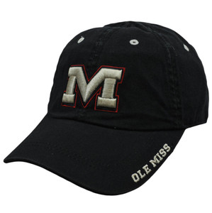 NCAA Mississippi Rebels Nickel Unbrush Relaxed Slouched Fit Adjustable Hat Cap