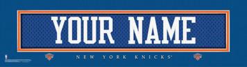 NBA New York Knicks Official Personalize League Jersey Stitch Print Black Framed