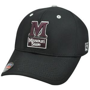 HAT CAP MISSOURI STATE MSU BLACK MAROON BEARS FLEX FIT LICENSED PRO GAME NCAA