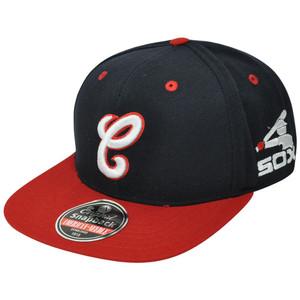 MLB American Needle Chicago White Sox Blockhead Flat Bill Snapback Hat Cap