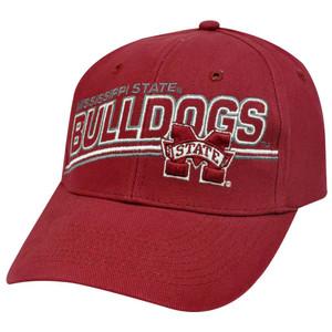 new style 2c6ba a1b6d NCAA OFFICIAL MISSISSIPPI BULLDOGS MAROON CAP HAT ADJ