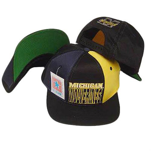 NCAA MICHIGAN WOLVERINES SNAPBACK FLAT BILL VINTAGE HAT - Cap Store ... cd7ba2b2e78d