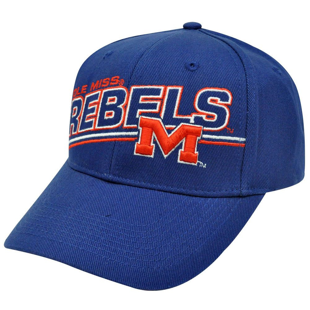 64f2095d4b6e3 NCAA OFFICIAL OLE MISSISSIPPI REBELS CAP HAT NAVY BLUE - Cap Store ...