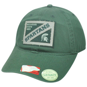 NCAA Michigan State Spartans EZ Twill Garment Wash Felt Sun Buckle Hat Cap