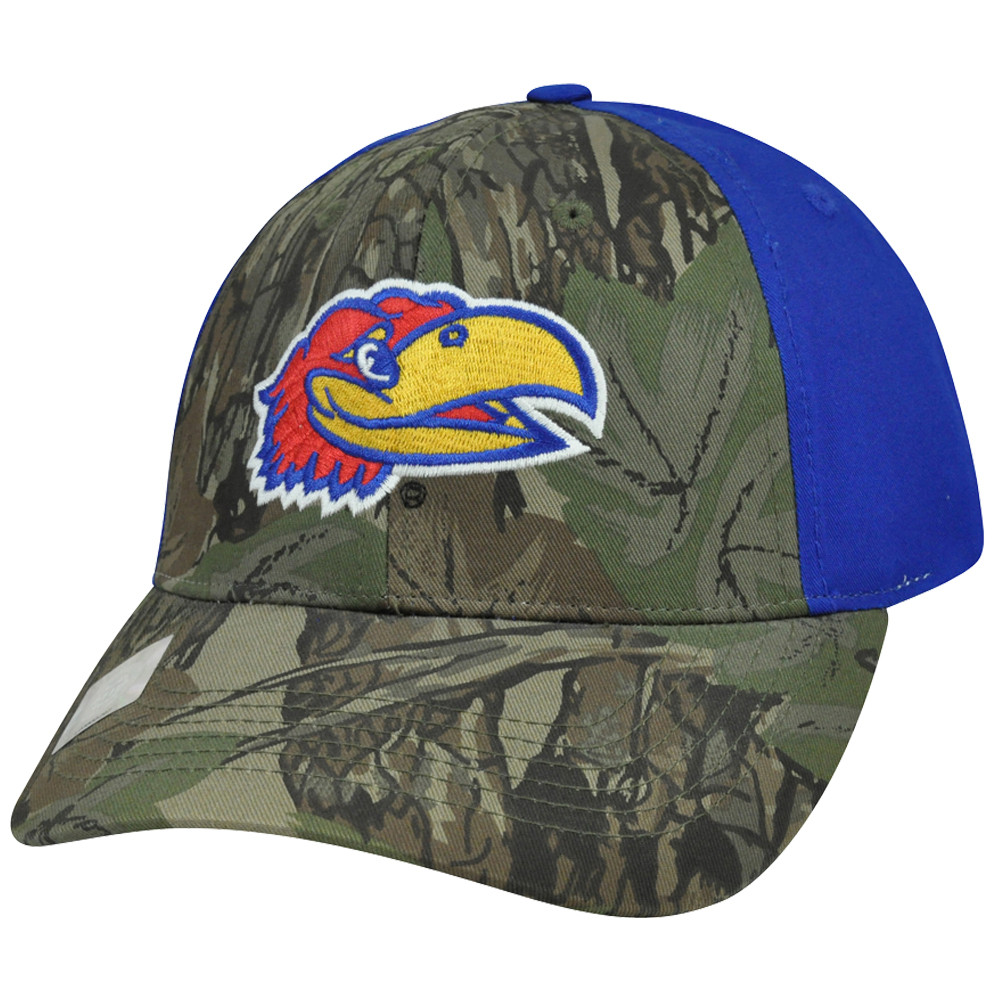 baaeea42b8eca7 NCAA Kansas Jayhawks Freshman Camouflage Adjustable Curved Bill Camo ...