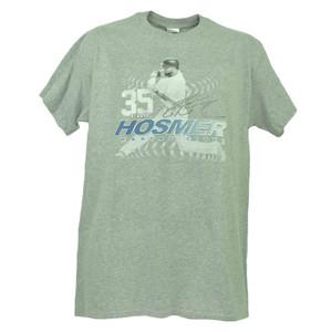 Kansas City Royals Eric Hosmer 35 Player Signature Gray Tshirt Tee Mens Baseball