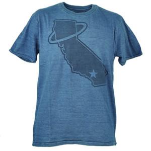 Los Angeles Angels Red Jacket Large Tshirt Tee Blue Short Sleeve Crew Neck Mens