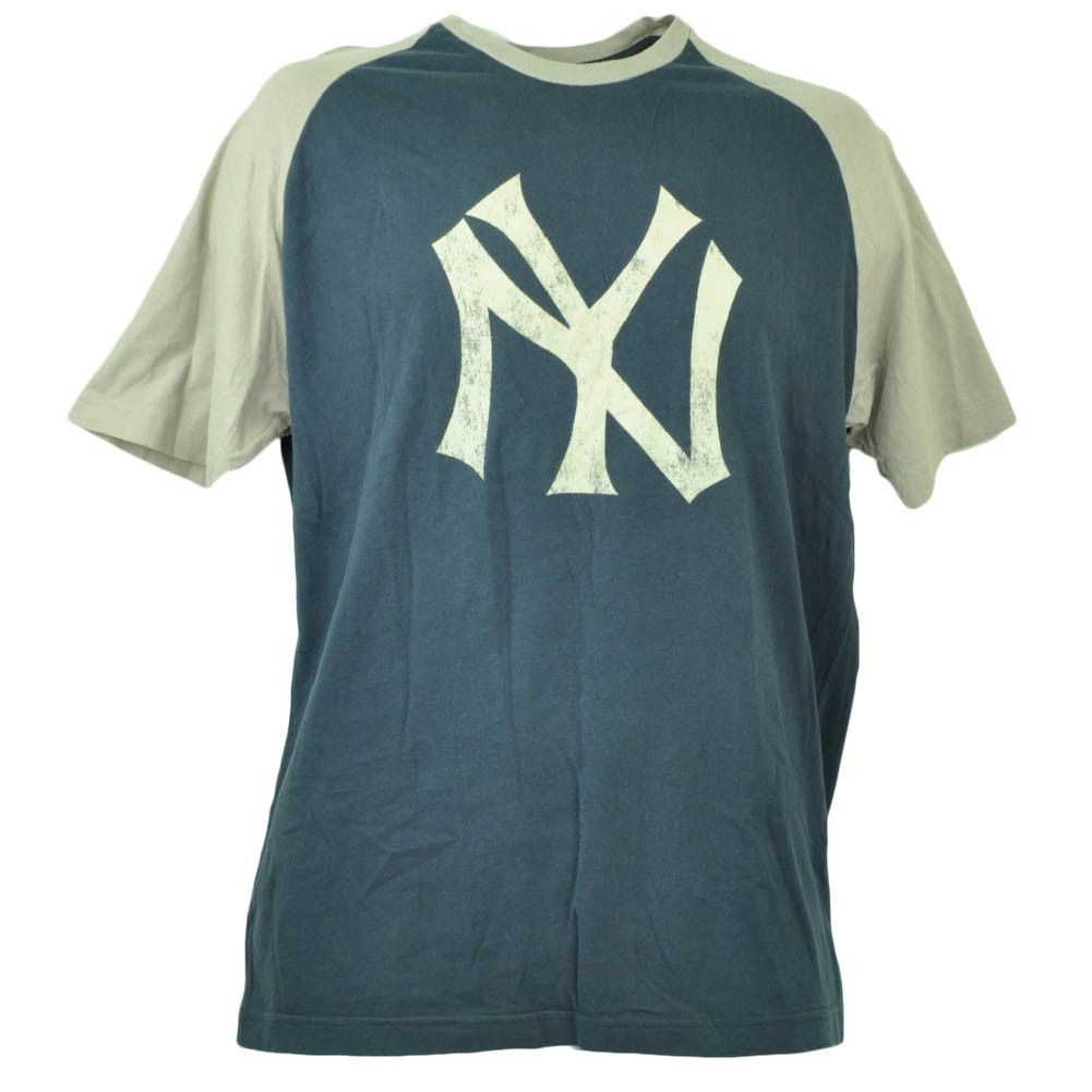 Wright Ditson New York Yankees Tshirt Tee Mens Large Distressed Navy ... ce9b1711966
