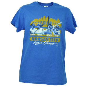 Kansas City Royals League Champs 2014 Escobar Gordon Hosmer Tshirt Small Tee Men