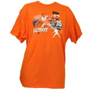 Detroit Tigers Justin Verlander 35 Orange Tshirt Tee XLarge Mens Short Sleeve