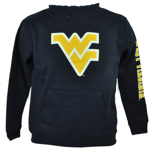 NCAA Colosseum West Virginia Mountaineers Youth Navy Blue Sweater Hoodie Fleece
