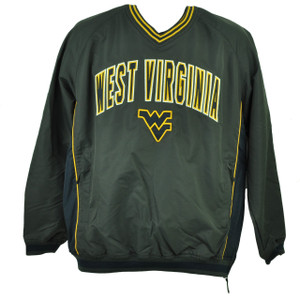 NCAA Colosseum West Virginia Mountaineers Windbreaker Pullover Gray Mens Sweater