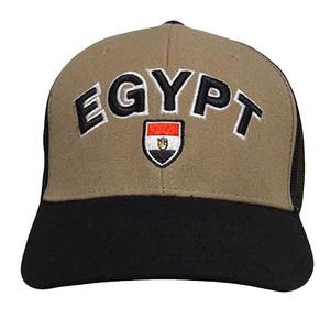 EGYPT BROWN BLACK BASEBALL CAP HAT TRUCKER MESH ADJ NEW