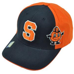NCAA Syracuse Orange Navy Blue 2 Tone Hat Cap Adjustable Cuse Side Logo Mens