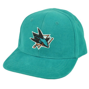 NHL San Jose Sharks Fan Favorite Infant Adjustable Hat Cap Turquoise Robbie