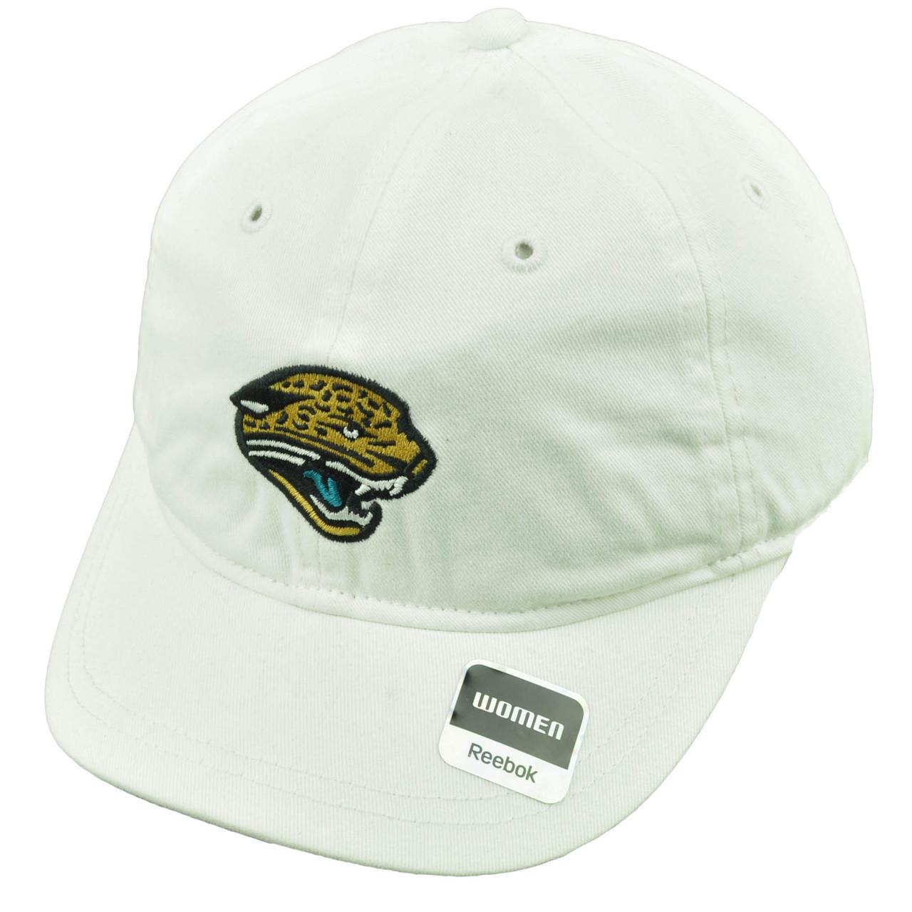 Jacksonville Jaguars Womens Hat Cap White Plaid Dots Under Visor ... 2de991f91aad
