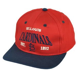 MLB St. Louis Cardinals Est 1892 Vintage Red Youth Flat Bill Snapback Hat Cap