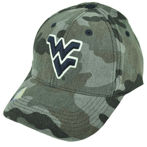 NCAA West Virginia Mountaineers Gray Camouflage Camo Hat Cap Adjustable Football