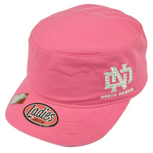 NCAA North Dakota State Fighting Sioux Ladies Cut Women Hat Cap Rhinestone Pink