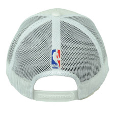 57733c7504f19 Miami Heat Adidas White Stripe Mesh Snapback NZM06 Hat Cap Basketball  Curved Bill