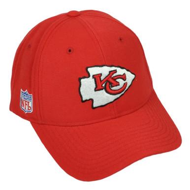 3cc528adf49 Kansas City Chiefs Reebok Red Hat Cap Adjustable Mens Curved Bill Football