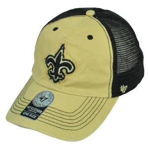 '47 Brand New Orleans Saints Distressed Mesh Flex Fit One Size Hat Cap Beige