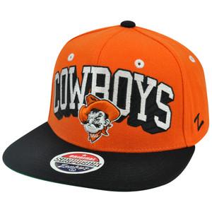 NCAA Zephyr Blockbuster Oklahoma Cowboys Adjustable Snapback Flat Bill Cap Hat