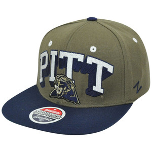 NCAA Pittsburgh Panthers Pitt Zephyr Block Buster Snapback Flat Bill Hat Cap