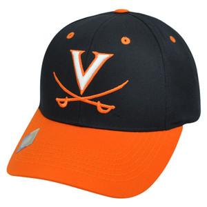 NCAA Virginia Cavaliers Twill Cotton Curved Two Tone Snapback Adjustable Hat Cap