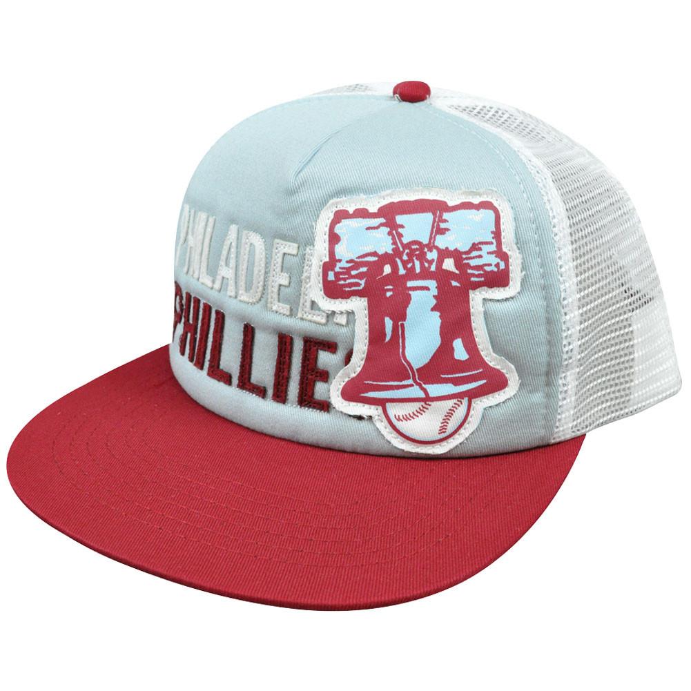d2750d61d06 MLB American Needle Felt Applique Snapback Mesh Hat Cap Philadelphia  Phillies. Image 1
